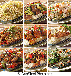 Asian food dishes