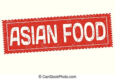 Asian food grunge rubber stamp