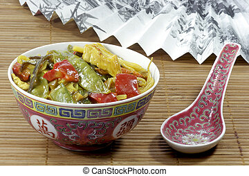 Asian food in a bowl