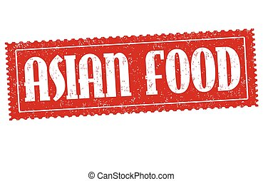 Asian food sign or stamp