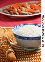 Asian food - Close-up view of asian food and tableware