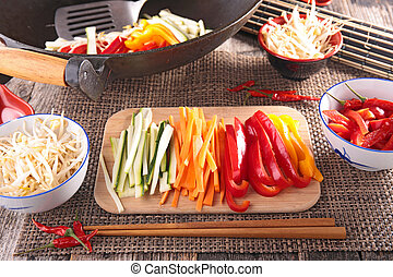 asian food, wok
