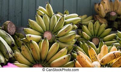 Asian fruit market. Tropical fruits