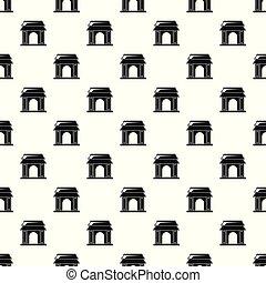 Asian gate pattern seamless vector