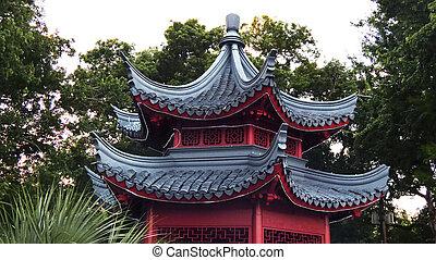 Asian Gazebo Roof Detail -Asian Heritage Orlando Florida