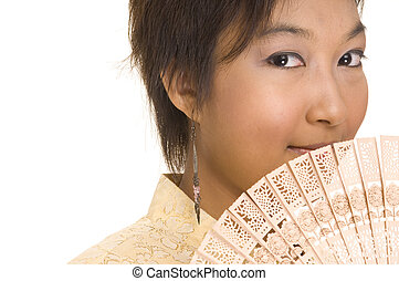 Asian Girl and Fan 2