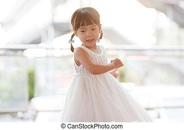 Asian girl dancing