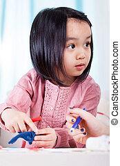 Asian girl having fun