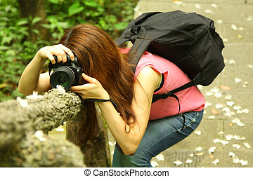Asian girl photographer