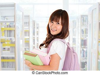 Asian girl student