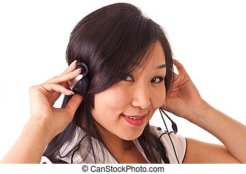 asian girl with headset 2