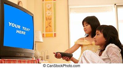 asian girls as princess, tv remote control