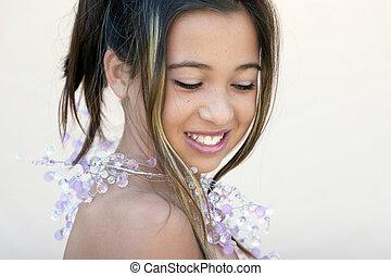 Asian glamorous girl