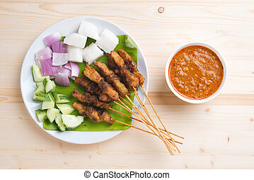 Asian gourmet chicken satay