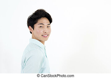 Asian handsome male student