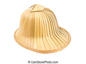 Asian  hat isolated on white
