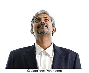 Asian Indian male looking up