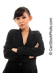 asian, kobieta kariery
