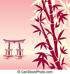 asian landscape - vector image of traditional Asian...