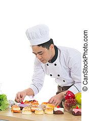 asian male chef