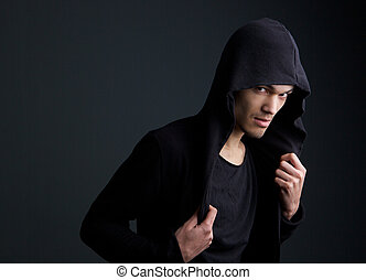 Asian male fashion mode - Portrait of an asian male fashion...