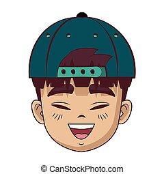 Asian man face