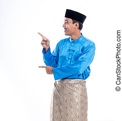 muslim melayu male pointing up