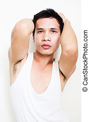 Asian Man Posing