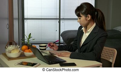 Asian Manager Businesswoman Working