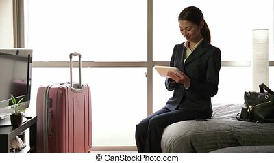 Asian Manager Woman With iPad