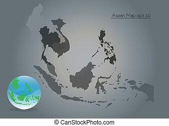 Asian Map, vector
