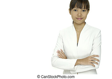 Asian Model 16 - A young pretty asian woman in a white...