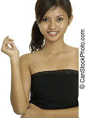 Asian Model 31 - A pretty young asian woman in a black top
