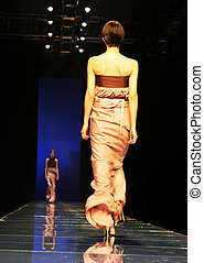 Asian model on the catwalk