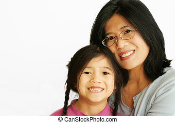 Asian mother with her daughter