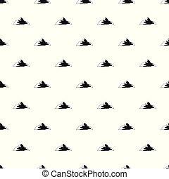 Asian mountain pattern seamless vector