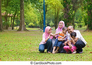 Asian Muslim family lifestyle