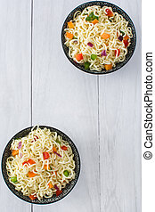 Asian noodles and vegetables