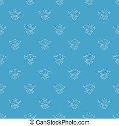 Asian pagoda pattern vector seamless blue