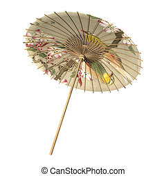 Asian Parasol Retro - 3D digital render of an Asian parasol...