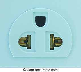 asian plugs on white background