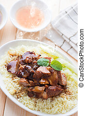 Asian pork rice