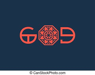 Asian Religious Poster with God Title Design - Asian...