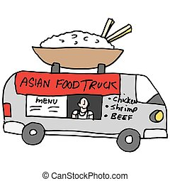 Asian rice bowl food truck