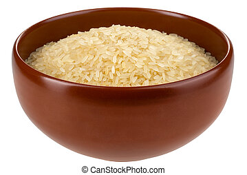 Asian rice bowl isolated.