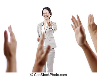asian school teacher