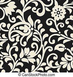 Asian seamless vector paisley pattern