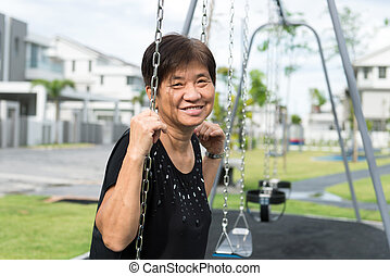 Asian senior citizen