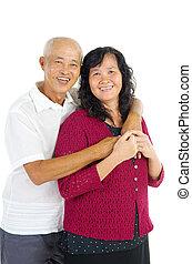 Asian senior couple