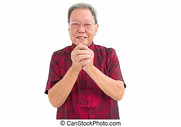 Asian senior man